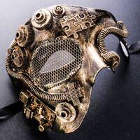 Half Face Phantom Terminator Steampunk Mask Mardi Gras Masquerade Party Mask