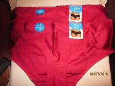 new LOT 2 PLAYTEX cheeky HIPSTER panties NYLON spandex  FLATTERING scarlet 3XL