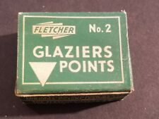 Vintage Fletcher Terry Box Glaziers Points No. 2 Advertising Display