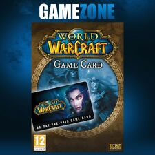 World of warcraft wow 60 jours pré-payée jeu code carte fiche de pointage new eu uk