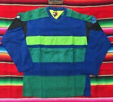 Vtg Tommy Hilfiger Jeans colorblock hockey top jersey Ls shirt L 90's hip hop