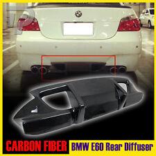 06-10 Carbon Fiber Fit For BMW 5-SERIES E60 4DR 4D M5 Model Rear Bumper Diffuser