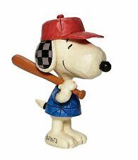 Jim Shore Peanuts Mini Snoopy Baseball Figurine 6007961 New