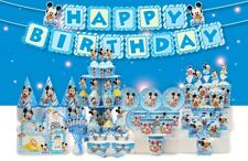 Blue Mickey Mouse Happy Birthday Party Supplies and Decorations
