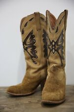 Vtg 80s 90s Miss Capezio Brown Cowgirl Cowboy Southwestern Butterfly Boots