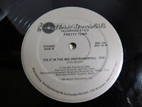 """Pretty Tony – Fix It In The Mix 12"""" Single 1984 Electronic, Hip Hop"""