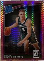 2018-19 Donruss Optic Rated Rookie Hyper Pink Prizm Donte DiVincenzo #164 Bucks