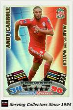 2011-12 Topps Match Attax Card Man Of Match Foil 384 Andy Carroll