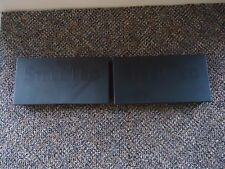 """Vintage Lot Of 2 Remco Steel Tec Black Construction System Cases """" Great Items """""""
