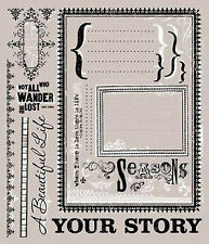 DaisyDs JOURNALING ACCENTS Rub-On Transfer Sheet scrapbooking YOUR STORY
