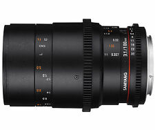 Samyang 100mm T3.1 VDSLRII Cine Lens for Canon EF Mount With Macro