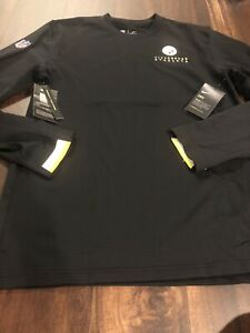 New Nike Pittsburgh Steelers NFL Football Pullover Shirt Size 3XL Black Gold