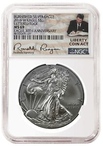 S 2016 $1 American Silver Eagle NGC MS69 Black Label Red Core