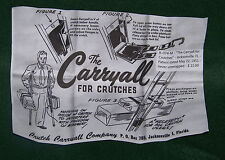 The Carryall for Crutches - Vintage Accessory for Attaching Packages to Crutches