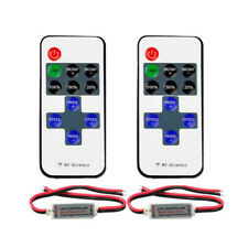2Pack 12V RF Wireless Remote Dimmer Switch Controller For Single Color Led Strip