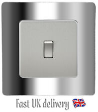 Silver Chrome Light Switch SURROUND Sticker Vinyl Skin Cover Decal