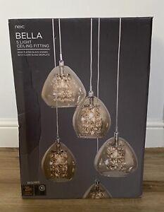 Next Bella 5 Light Pendant Cluster Mink Ceiling Light