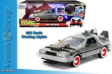 Back to The Future Part III Delorean With Lights Time Machine 1 24 Jada 32166