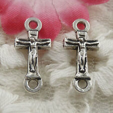 free ship 130 pieces Antique silver cross connector 18x8x3mm #4389