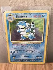 Blastoise (2/102) Base Set Holo Pokemon Card. Played Condition