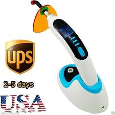 HOT 10W Wireless Cordless LED Dental Curing Light Lamp 2000MW+ Whitening BLUE US