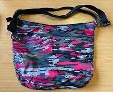 Kipling Grey and Pink Camo Over the Shoulder Bag