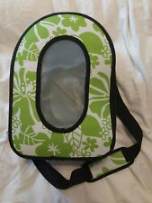 A&E Cage Company, Happy Beaks Soft Sided Travel Bird Carrier Green, 14.5x10.50
