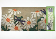Dragonflies Sassafras Insert Switch Door Mat 10x22 Spring Flowers Daisy #431178