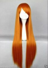 Kawaii Fashion Ginger Long 80cm Full Heat Resistant Wig