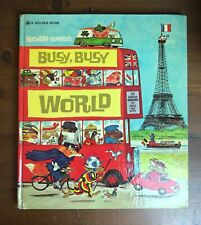 RICHARD SCARRY'S BUSY, BUSY WORLD Vintage Hardcover Golden 1974