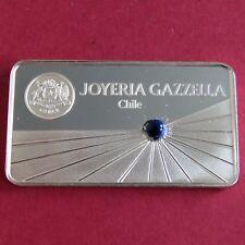 Officiel Gem LINGOT gazzella hallmarked silver proof lingot avec Lapis Lazuli Gem
