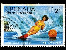 GRENADA VINTAGE POSTAGE STAMP WATER SKIING PHOTO ART PRINT POSTER BMP1688A