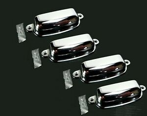"""(4 pcs.) 3-5/8"""" CHROME Cabinet or Drawer PULL HANDLE (Polished Chrome)"""