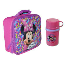 DISNEY Minnie Mouse School Insulated Lunch Bag + Tumbler Cup Container NEW