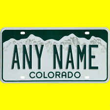 License plate, golf cart, mobility scooter - Colorado design, custom, any name