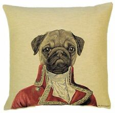 """MR MONTAGUE PUG ARISTODOGS 18"""" TAPESTRY CUSHION COVER"""
