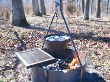 """24"""" Steel Fire Ring + Bipod + Swing Grate"""