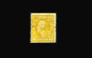 US Stamp Used, F/VF S#356 RARE light cancel, measures at 24 3/4 millimetres