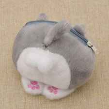 1 Pc Girl Cartoon Plush Cat Ass Wallet Zipper Mini Coin Purse Pouch Kawaii Bag