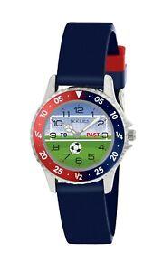 Tikkers Children's Soccer Theme Football Rotating Disc Time Teacher Watch-NTK021