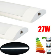 Pack of 2 3FT 90CM 27W Daylight LED Batten Tube Light Slim Wall Mounted Lamp UK