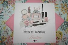 Handmade Personalised Girly Make Up Teen Birthday Card Daughter Granddaughter