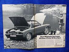 VW Porsche 914 2.0L - Werbeanzeige Reklame Advertisement 1973 __ (684