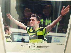 Robbie keane signed Celtic FC framed autograph