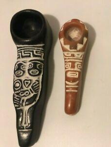 clay pipe men woman ferility lovely,Tobacco Bolivia,ritual inca,Quechua,Pipes
