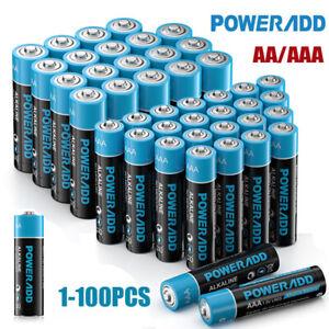 POWERADD AA AAA Alkaline Batterie 1.5V LR03 Nicht wiederaufladbare 4-100STK
