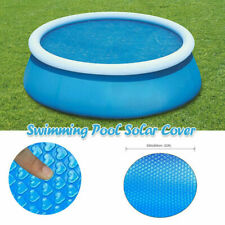 8ft 10ft 12ft Swimming Pool Cover Round Paddling Sheet Fast Set Garden Clean^