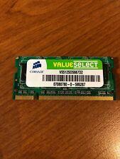 512MB Corsair DDR2-667 RAM PC2-5300S CL5 COSÌ-DIMM VS512SDS667D2 Notebook