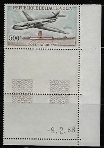 Upper Volta: 1968; Scott C51 with tab, MNH, french plane caravelle - EBHV05