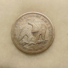 1872-CC Liberty Seated Dollar - Scarce Date - Very Nice Looking Coin